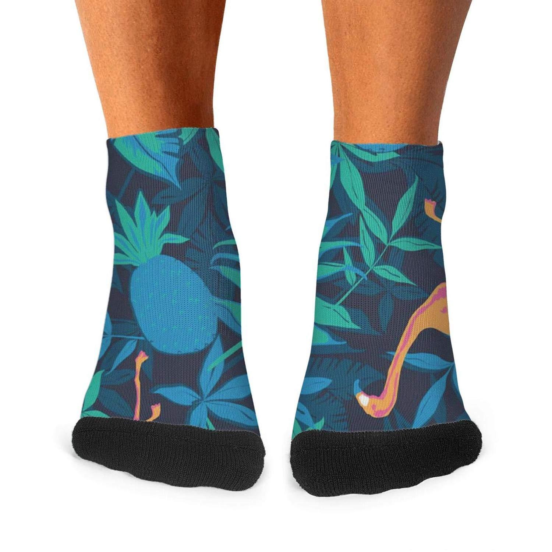 Floowyerion Mens Flamingos bikini anchor glasses beach seaside red lips Novelty Sports Socks Crazy Funny Crew Tube Socks