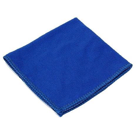 Toallas - SODIAL(R)10pcs Toallas Toalla Limpieza Lavado Coches Pano Absorbente Microfibra Azul