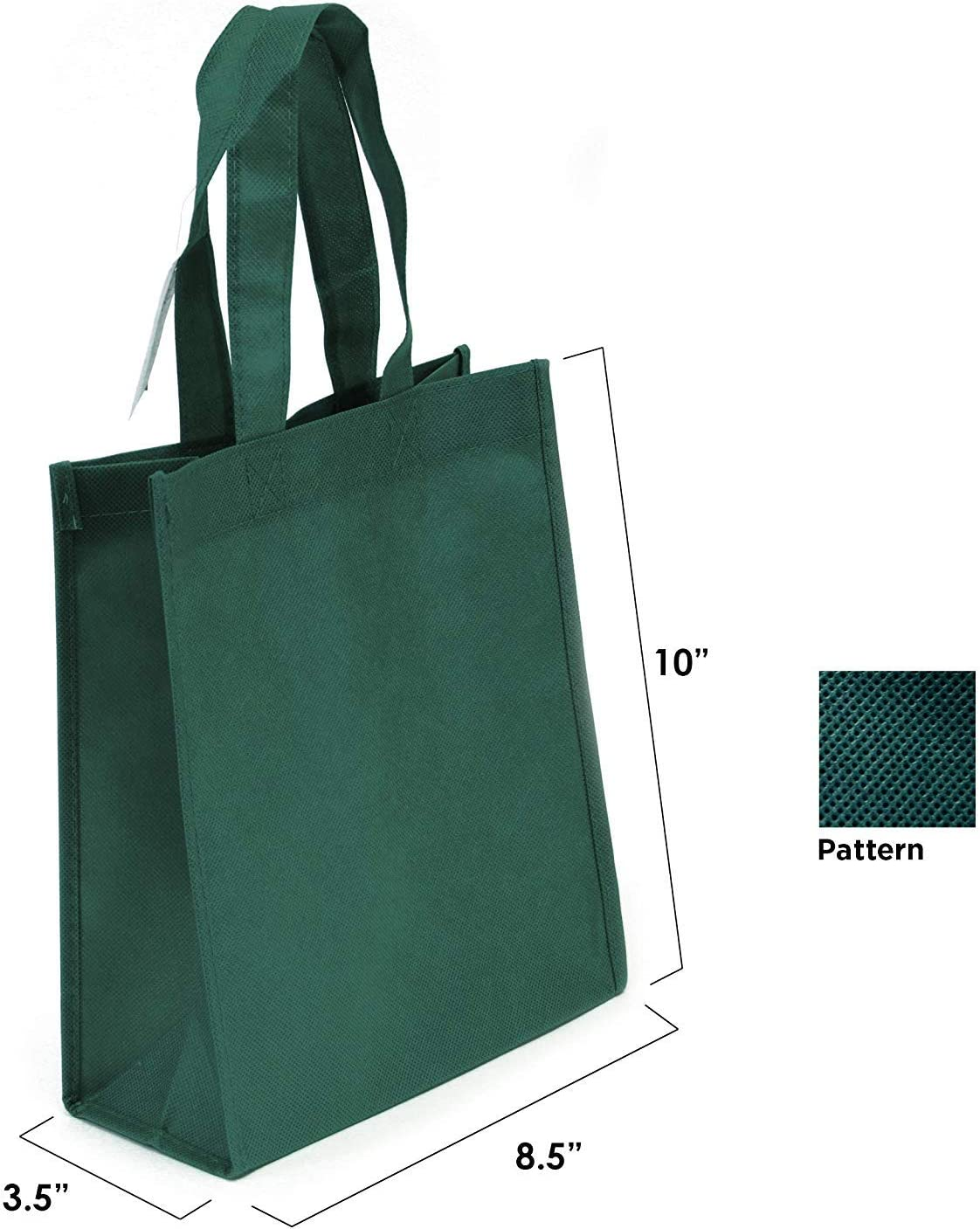 Assorted Color, Set of 50 Non Woven Bag Multipurpose Art Craft Screen Print School Bag Book Bag Heavy Duty Non-woven Polypropylene Non-woven Reusable Tote Bags Small Gift Tote Bag