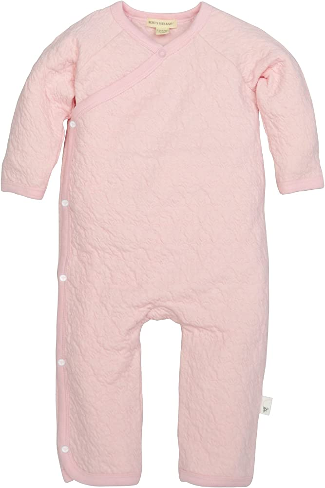 Burts Bees Baby Baby Girls Romper Jumpsuit 100/% Organic Cotton One-Piece Coverall