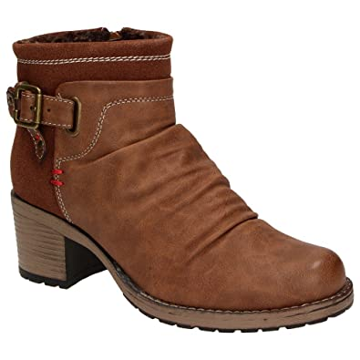 Jane Klain 263043-366 Damen Winter-Stiefelette Warmfutter Schuhe Mocca Braun, Schuhgröße:37