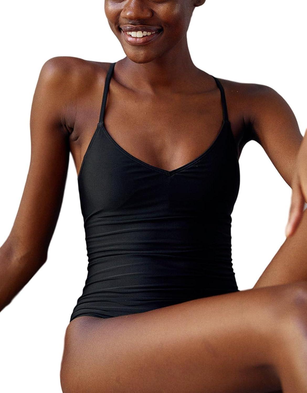 6a437a7c1d Top3: Women\'s Black One Piece Swimsuit, V-Neck Tie Criss Cross Back Lace  Up Bathing Suit Swimwear