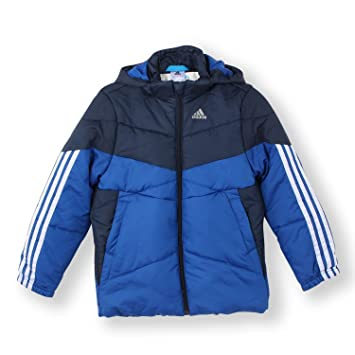 Adidas Kids JP BS Padded Jacket Blue Junior Training 3-Stripe Logo M67498  (128