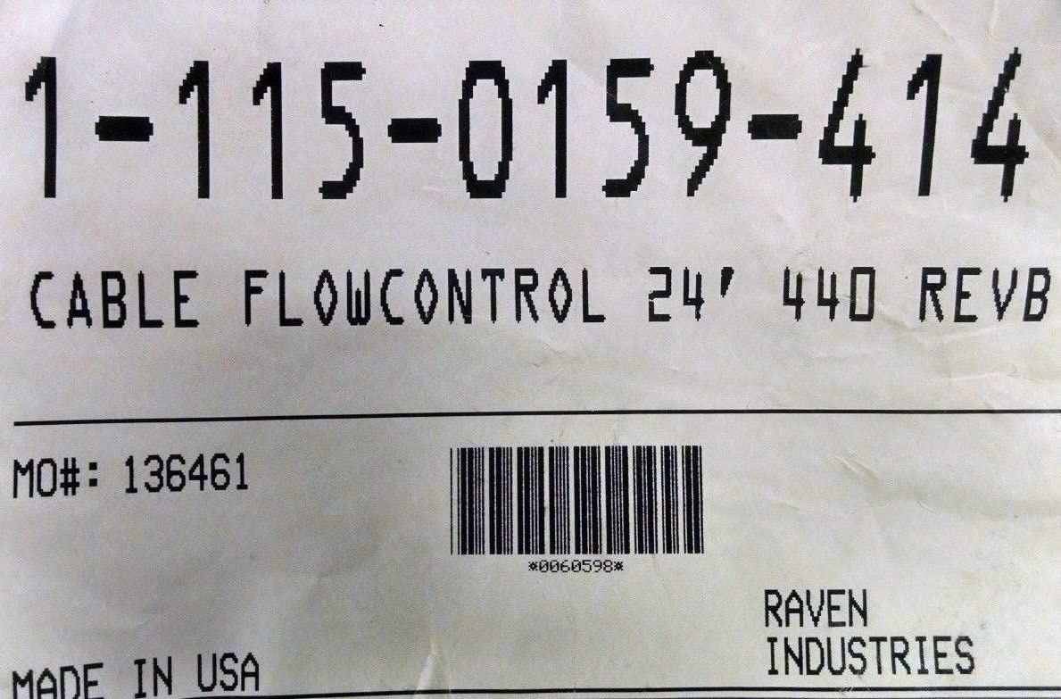 Raven 115-0159-414 Cable Flow Control 24 440 Monitor REV B