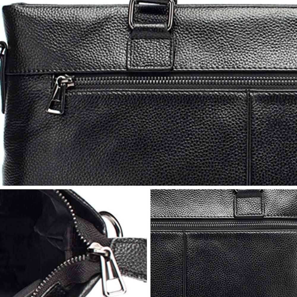 Work Shoulder Bag Black Color : Black Balalafairy-bri Men Laptop Briefcase Bag Leather Briefcase Lawyers Messenger Shoulder Laptop Business Bags for Men