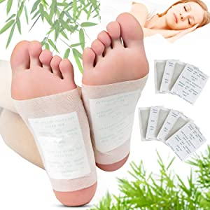 Foot Pads, Kapmore 100 Relief Foot Pads and 100 Adhesive Sheets for Removing Impurities, Relieve Stress Improve Sleep