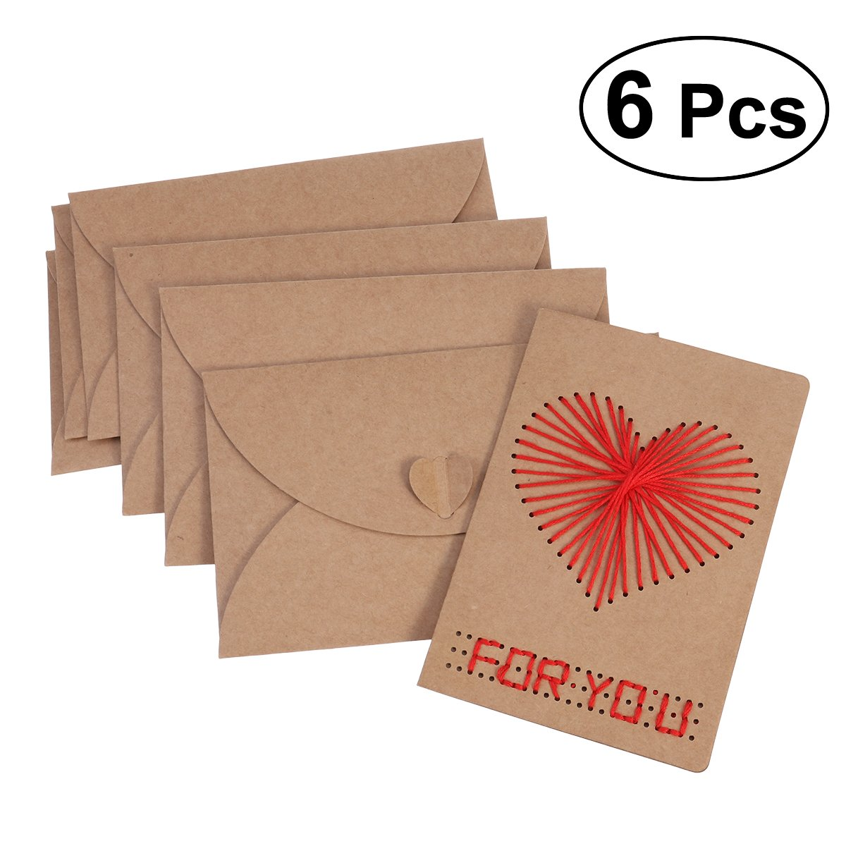 Tinksky DIY biglietti di auguri di Capodanno benedizione biglietti regalo per San Valentino, festa della mamma, compleanni e matrimoni anniversari Dating con busta 6PZ
