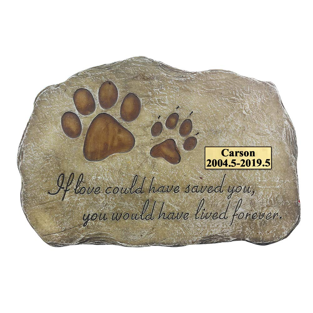 JSYS Personalized Pet Memorial Stone Customized Dog Memorial Stone for Loved One's Sympathy Gift