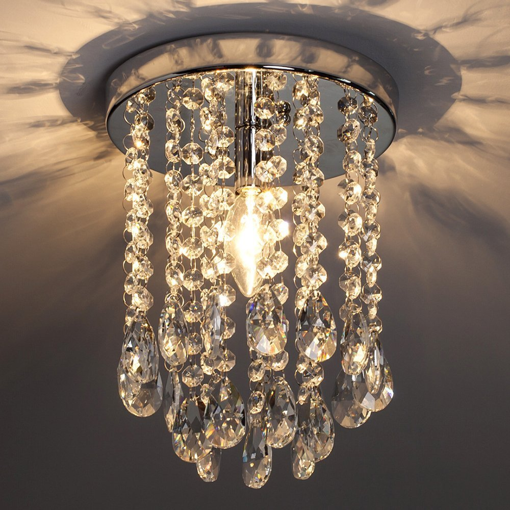 POPILION Diameter 9.8 Inch Lighting Ceiling Chandelier,Romantic Atmosphere