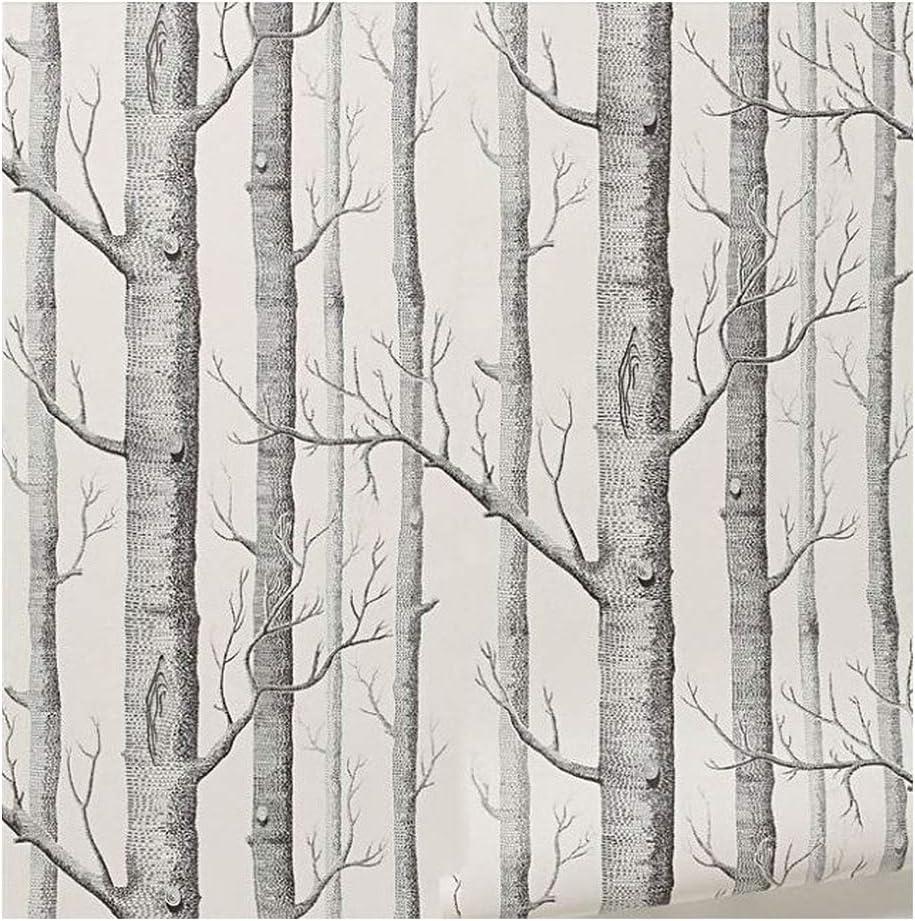 Cutogain Birke Baum Tapete Modern Decor Wand Papier Rolle Forest Holz Hintergrundbilder f/ür Schlafzimmer Wohnzimmer
