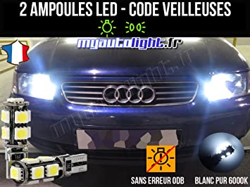 Pack de bombillas LED de color blanco xenón para Audi A3 8L