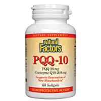 Natural Factors, PQQ-10, Supports Energy and Healthy Aging, Dietary Supplement, 60 softgels (60 Servings)