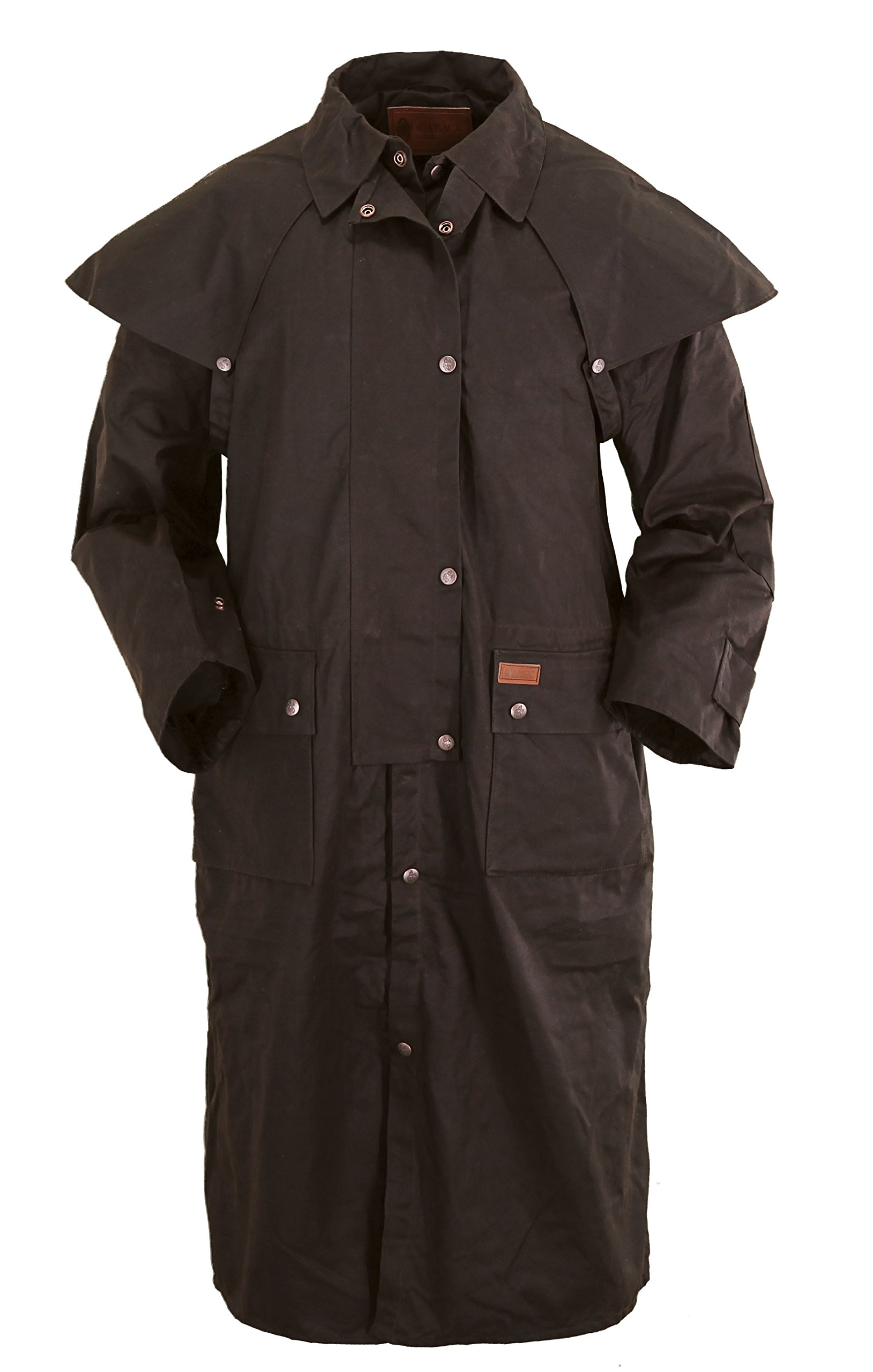 Outback Trading Co. Low Rider Duster Mens Coat Brown 100% Cotton Oilskin 3XL