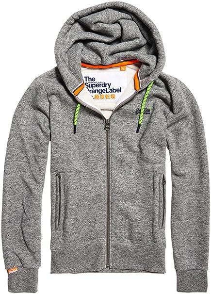 Homme Superdry Orange Label Sweat à capuche zippé rouge