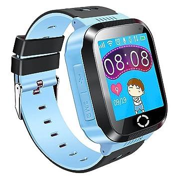 TOOGOO Reloj inteligente GPS para ninos para ninos Regalos de Navidad con pantalla tactil Camara Podometro Anti-perdida SOS Compatible para iPhone Android ...