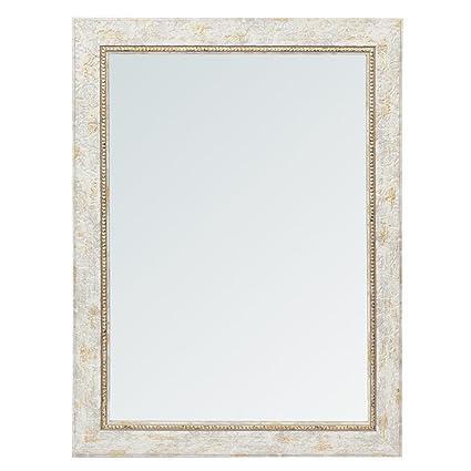 999Store Fiber Framed Decorative Wall Mirror or Bathroom Mirror Grey(24x18 Inches)