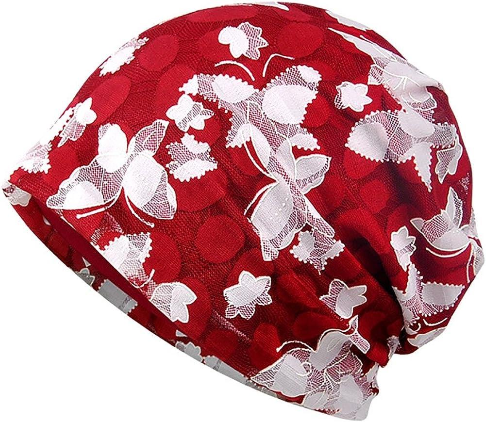 Cappello Beanie Slouchy Hat per Donna Ciclismo Corsa Cuffia da Notte in Cotone per Chemio Aesy Berreto Turbante per la Perdita di Capelli Cancro Chemioterapia