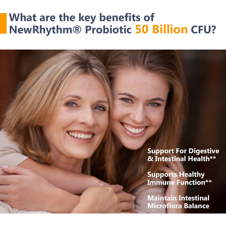 Amazon.com: NewRhythm Probiotics 50 Billion CFU 20 Strains, 60 ...