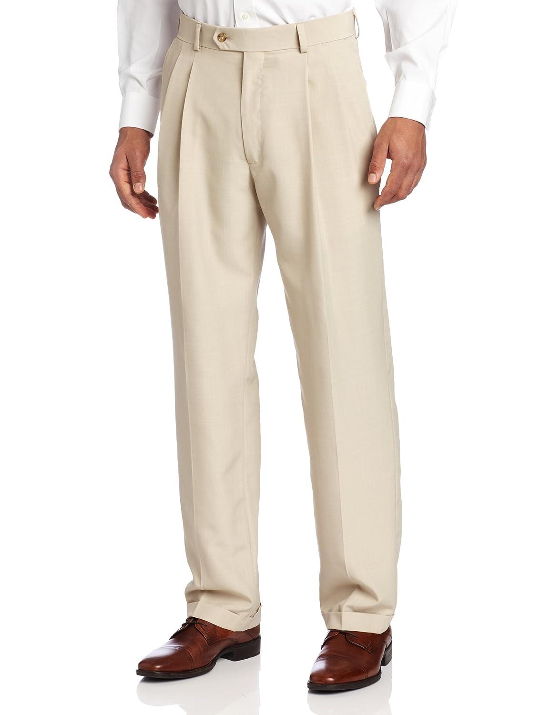 Haggar mens Tan Stria Pleat Front Suit Separate Pant Haggar Men's Tailored HY00239