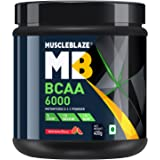 MuscleBlaze BCAA 6000 Amino Acid Powder (Watermelon, 0.88 lbs / 400g, 50 Servings)