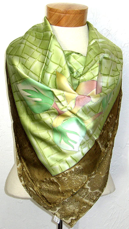 Handmade Extra Large 100% Luxurious Charmeuse Silk Scarf Shawl Wrap By Jingjingart