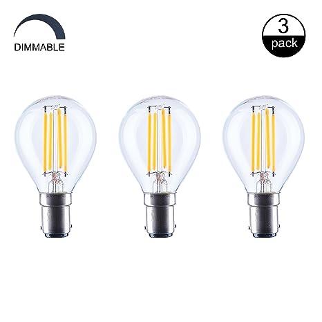 aselihgt 6 W g45 6 W LED vintage bombillas, B15, 2700 K Edison bombillas