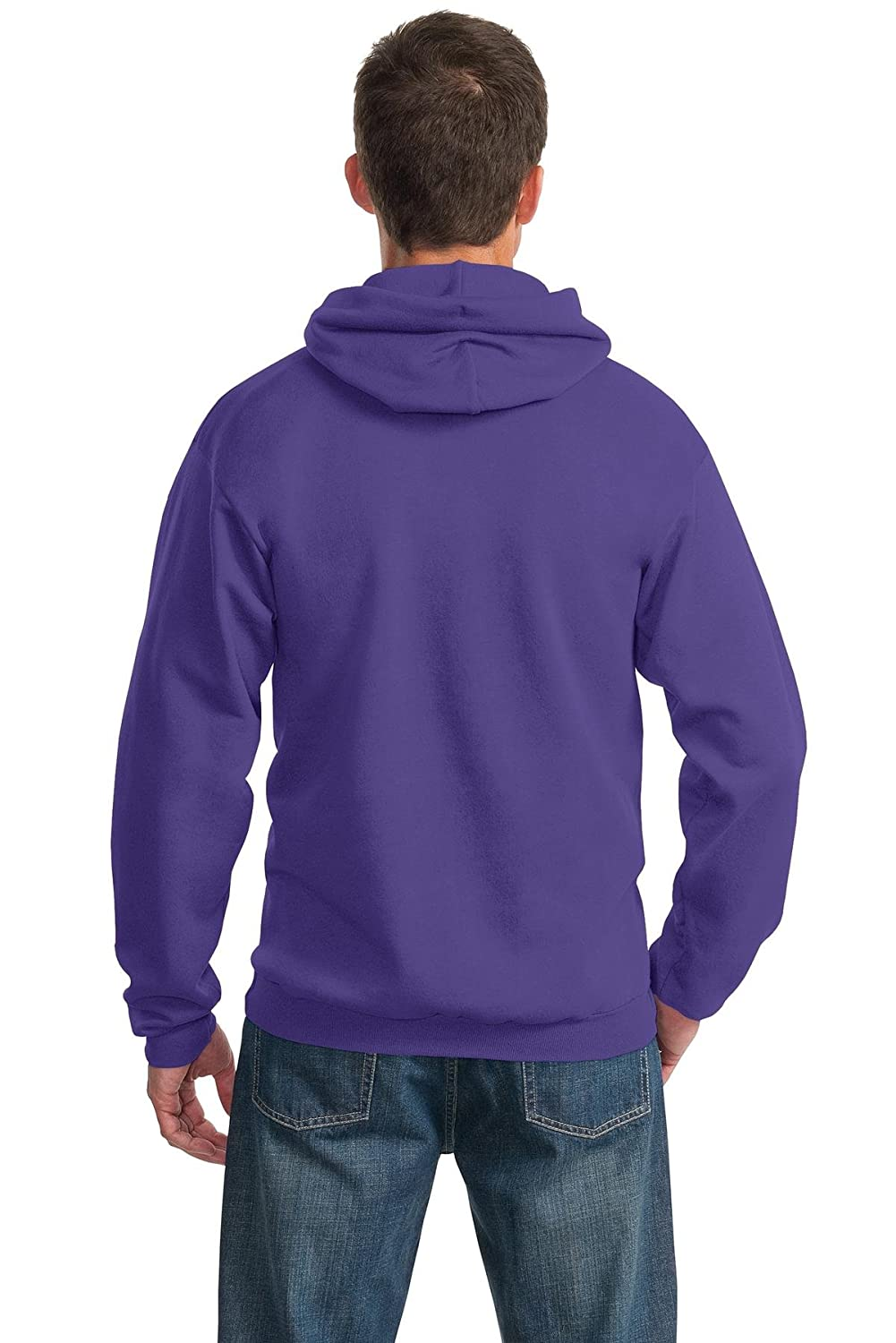 Port /& Company PC90H Pullover Hooded Sweatshirt Purple L