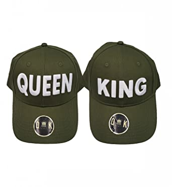 KING & QUEEN BASEBALL CAPS - GORRAS DE BEISBOL (KING & QUEEN, Verde): Amazon.es: Ropa y accesorios
