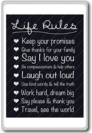 Amazoncom Life Rules Keep Up Your Promises Give Thanks For Your
