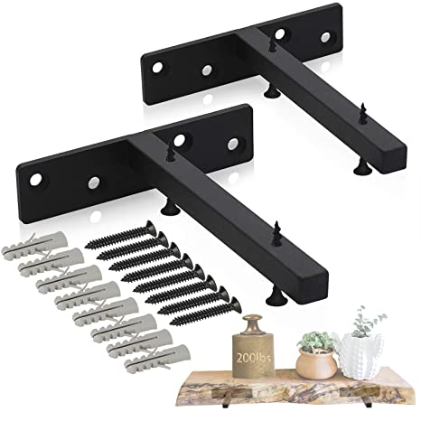 with concealed brackets bespoke size Available! Floating Corner Shelf Round
