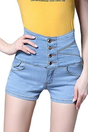 Juniors Para Mujer Pantalones Vaqueros Cortos Para Ninas Pantalones Mode De Marca Vaqueros Altos Pantalones Vaqueros Elegantes Pantalones Cortos De Verano Pantalones Cortos De Cintura Ajustados Amazon Es Ropa Y Accesorios