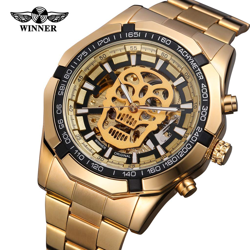 LUXISDE Quartz Watch Mens Digital Wrist Watch Clock Hollow Dial Luxury Design Business Fashion Mens Mechanical Watch by LUXISDE (Image #5)