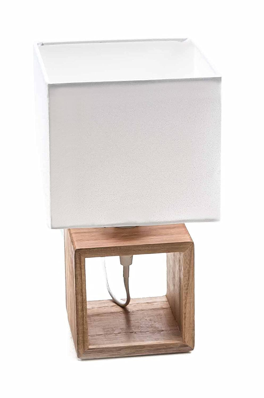 Lámpara de mesa de Grundig, madera de pie, textil de pantalla ...