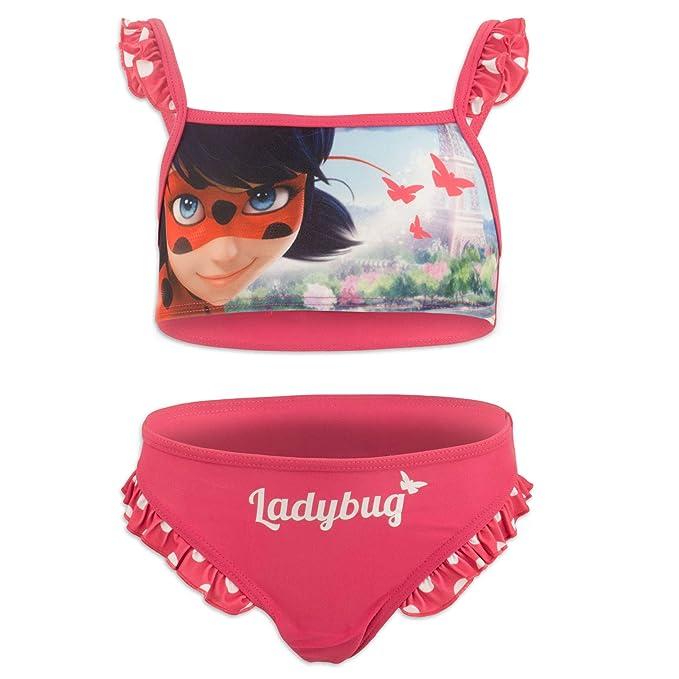 Miraculous LadyBug Cat Noir - Bikini Traje de baño de 2 Piezas ...
