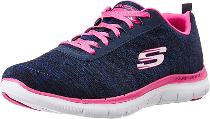 Skechers Flex Appeal 2.0 Sneakers Damen Blau/Rosa