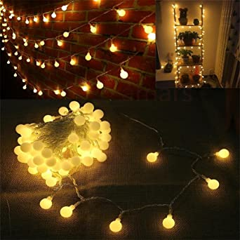 Amazon amars bedroom led string lights waterproof globe string amars bedroom led string lights waterproof globe string light usb powered 12m39ft party garden mozeypictures Images