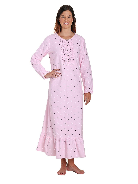 Noble Mount Women's Premium Flannel Long Gown nmt_wm_fln_gwnl