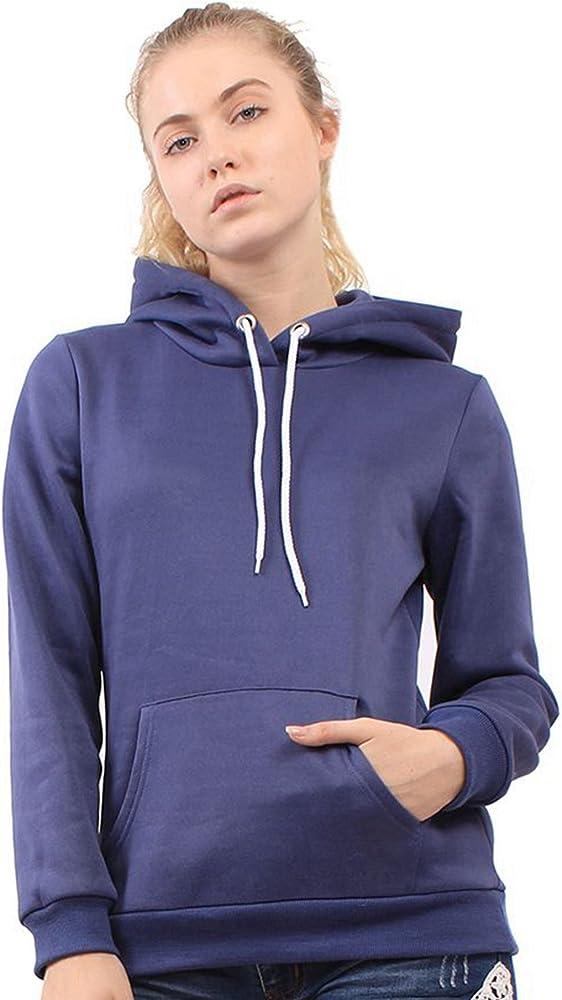 Men s Casual Hoodie Arm Zipper Pocket Drawstring Long Sleeve Hidden Kangaroo Pocket Solid Pullover Sweatshirt