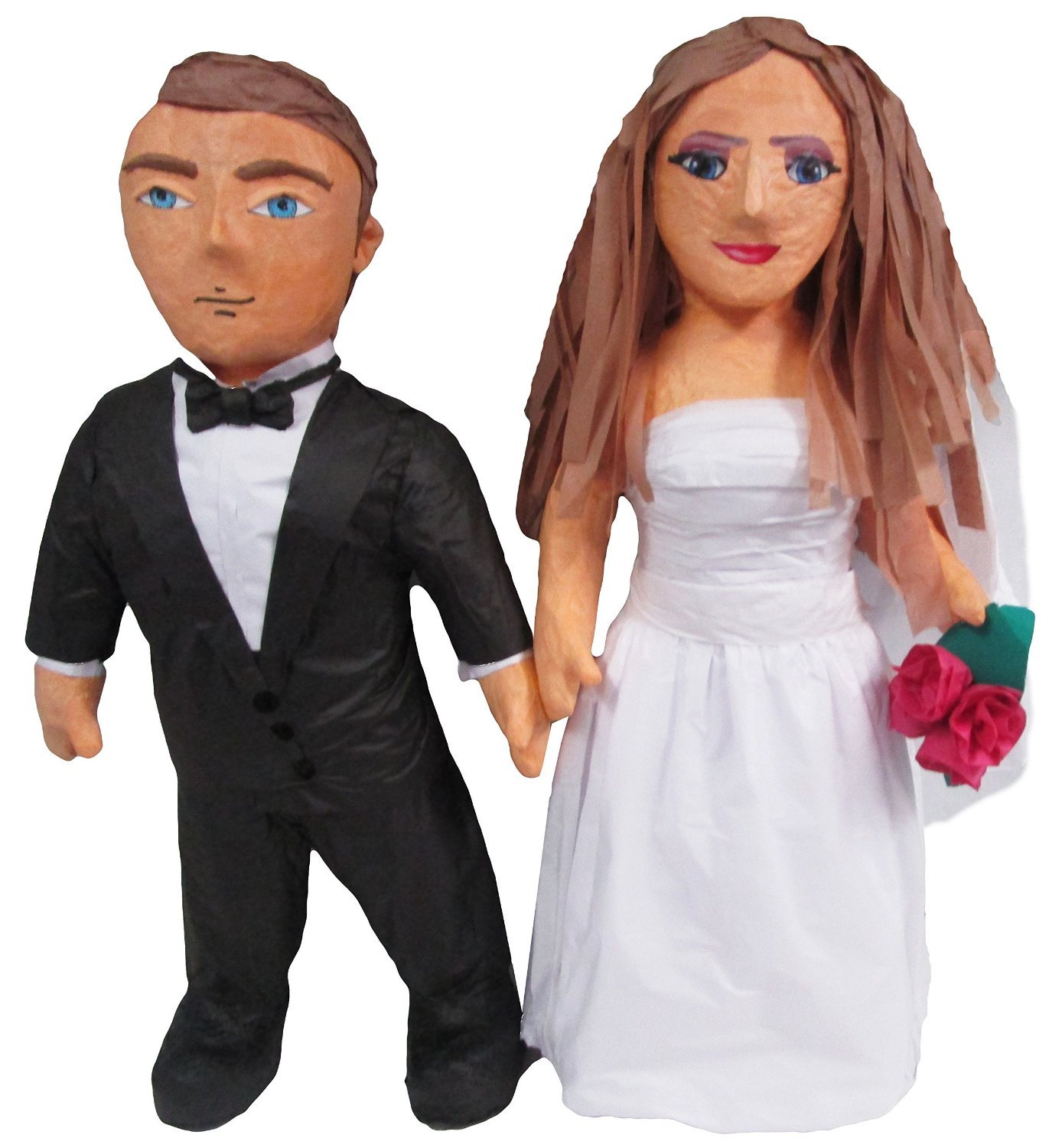 Custom Wedding Couple Bride and Groom Pinata, Photo Prop, Centerpiece Decoration and Party Game (Medium, Standing)