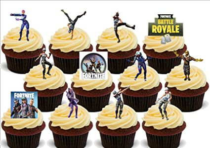 Amazon Com 12 X Fortnite Dancing Dancers Mix Fun Novelty Birthday