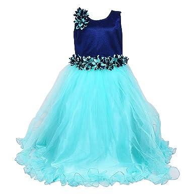 13e9c1257e34da Wish Karo Baby Girls Party Wear Frock Long Dress DN (LFg1006sg): Amazon.in:  Clothing & Accessories