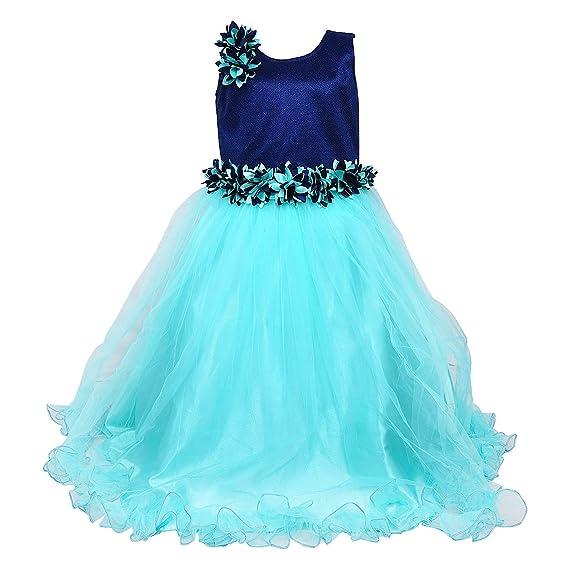 aa7039b41c98 Wish Karo Baby Girls Party Wear Frock Long Dress DN (LFg1006sg ...