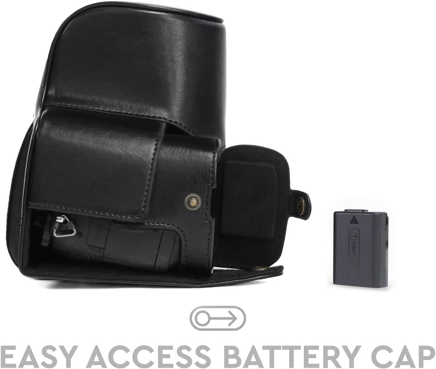 MegaGear Ever Ready Leather Camera Case Compatible with Sony Cyber-Shot DSC-RX10 IV DSC-RX10 III