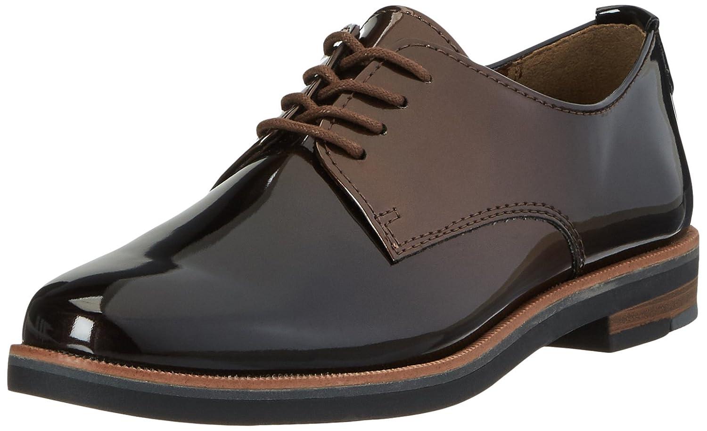 Marco Tozzi 23200, Zapatos de Cordones Oxford para Mujer 40 EU|Marrón (Mocca Patcomb)