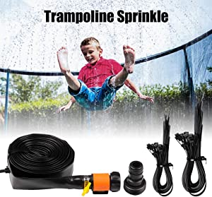 SmartLove Trampoline Sprinkler 39ft Summer Waterpark Sprinkler Outdoor Backyard Garden Water Party Games Toys Fun for Kids Boys Girls Adults