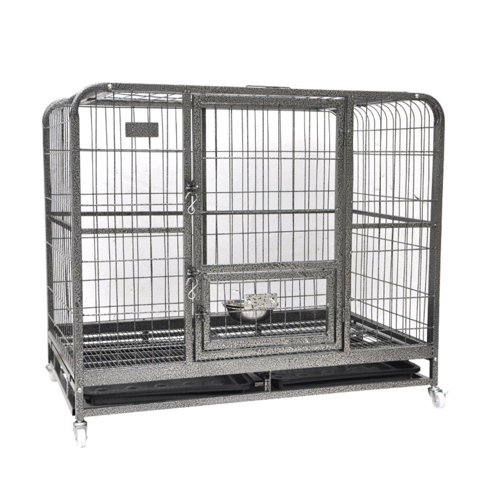 犬小屋、中型大型犬からの箱,折り畳み式の金属製犬の木枠のケージでペット犬-A 110x72x95cm(43x28x37inch) B07D1M95KW 22813  A 110x72x95cm(43x28x37inch)