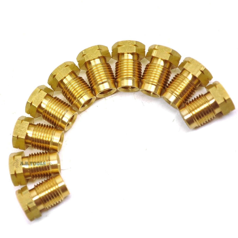 Raccords de tuyaux de frein laiton M10 x 1mm mâ le court 10 PACK pour tuyau 3/16' FL13 AB Tools