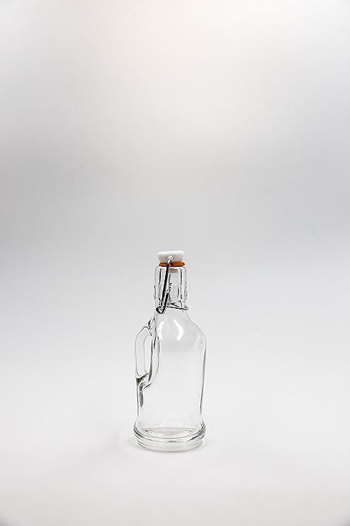 Covim nr 1 Botella Siphon Birra 200 ML de Vidrio Blanco Tapón mecánico n°34