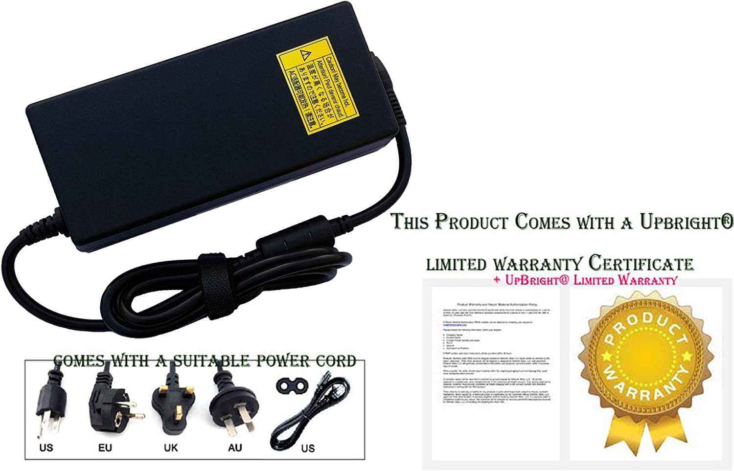 UpBright New Global AC//DC Adapter for Cincon Electronics TRG150A480-01E13 TRG150A480-01E13-Level-V Desktop Power Supply Cord Cable PS Charger Mains PSU