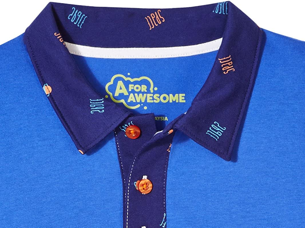 A for Awesome Boys Classic Short Sleeve Polo Cotton Jersey Shirt AZ171033